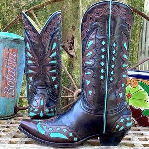OLD GRINGO Vintage Monarca Butterfly Western Boots